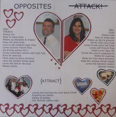 Opposites attack/attract - Scrapbook.com