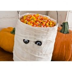 Plaid Apple Barrel Mod Podge Mummy Trick or Treat Bag