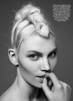 Messy Braid Editorials - The Aline Weber Vogue Paris Photo Shoot Features Outlandish Hairstyles