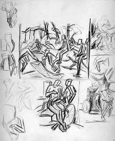 simplified figure drawings - Jackson Pollock, ca. 1937