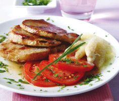 Receta para preparar lomo con guarnicion facil, rapido y bajo en calorias.