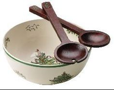 @Overstock - Give your holiday table a festive touch with a Christmas Tree salad bowl and serversSalad dish from Spode features a nostalgic Christmas pattern Serving piece measures 9.5 inches in diameter and includes two 12-inch wood servershttp://www.overstock.com/Home-Garden/Spode-Christmas-Tree-Salad-Bowl-and-Servers/3657003/product.html?CID=214117 $32.99