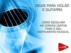 DICAS E AULAS DE VIOLÃO E GUITARRA: Dicas para violão e guitarra - Como escolher as co... Blog, Cords Of Guitar, Music Teachers, Guitar Classes, Instruments, Guitar