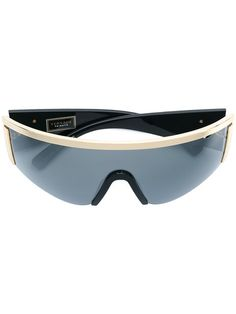 028fbb0b089a3 Versace Eyewear Medusa Logo Visor Sunglasses