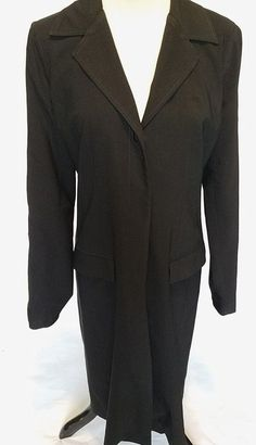 Johnny Was Womens Trench Coat Jacket Size 8 Black #JohnnyWas #Trench