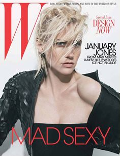 January Jones for W magazine May 2011 Photographed by Craig McDean #Biker #jacket #Wmagazine