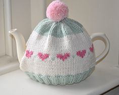 Shabby Chic Handmade Knitted Tea Cozy