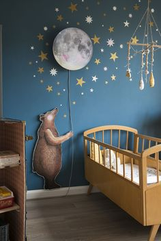 Baby Room Themes, Baby Boy Rooms, Baby Bedroom, Nursery Themes, Kids Bedroom, Ocean Themed Nursery, Moon Nursery, Baby Room Design, Nursery Room Decor