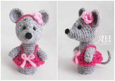 #crochetfingerpuppet#crochetmouse #crochet#instacrochet by agnesahandmade