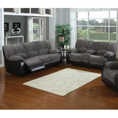 AC Pacific AC Pacific Jagger Sofa and Loveseat Set