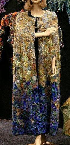 """by Prudence Mapstone """"reminds me of Klimt""""... another pic of my 'midnight to first light' cape, this time repinned from my friend Melba's board"""
