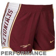 Nike Florida State Seminoles (FSU) Ladies Garnet Pacer Performance Shorts