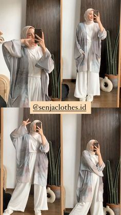 Hijab Fashion Summer, Modest Fashion Hijab, Modern Hijab Fashion, Modesty Fashion, Hijab Fashion Inspiration, Muslim Fashion, Fashion Outfits, Abaya Mode, Mode Hijab