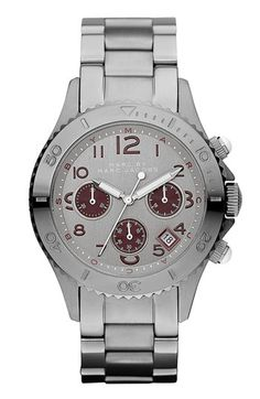 MARC BY MARC JACOBS 'Rock' Chronograph Bracelet Watch available at #Nordstrom $300.00
