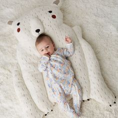 Shop Polar Bear Baby Play Mat.  Welcome this delightful polar bear baby play mat into your home, and your little one will have the perfect playtime companion.  The stuffed arms even provide the perfect support during tummy time.