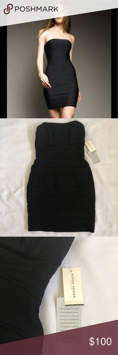 Alexia Admor Black Bodycon Strapless Dress XS Brand New with Tags Alexia Admor Bodycon Bandage Dress. Black size XS 198.00 from Nordstrom. Guarantee tag attached so You could definitely exchange for your size I just live too far or I'd do it myself. Never even tried on would be a perfect hot dress for Valentines Day❤️ Similar to Hot Miami Styles / Herve Leger / Fashion Nova fit. Inside has the rubberized trim around full bust so it will not fall down or slip just like Herve. Alexia Admor…