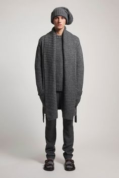 Michael Kors | Fall 2014 Menswear Collection | Style.com. love the sweater/scarf for men... and it's in grey!