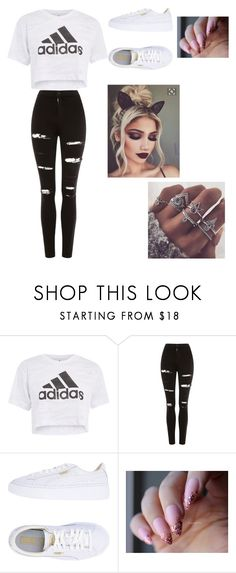 """janelle's outfit"" by bruhhhitsmissy ❤ liked on Polyvore featuring Topshop and Puma"
