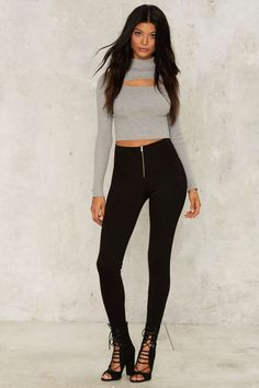 Zipped From the Headlines Leggings - Clothes | Grunge | Best Sellers | Legging