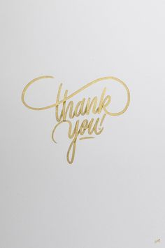 Typography thank you
