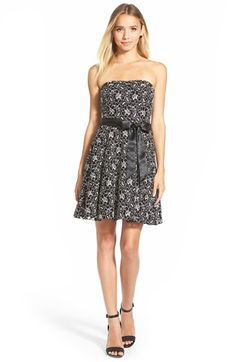 Speechless Strapless Lace Skater Dress available at #Nordstrom