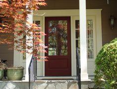 burgundy door