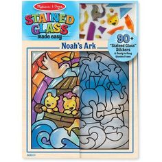 Melissa & Doug Stained Glass Made Easy, Noah's Ark, Multicolor
