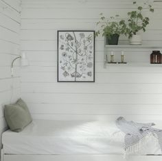 my scandinavian home: An idyllic Finnish cottage with an outdoor summer kitchen Dream Bedroom, Home Bedroom, Bedroom Decor, Bedrooms, Beddinge, Scandinavian Cabin, Summer Cabins, Summer Kitchen, Kitchen Time