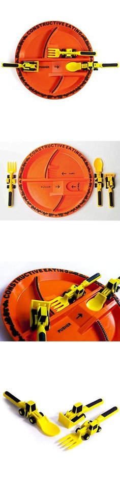 Feeding Sets 117386 Constructive Eating Construction Utensil Set With Plate Feeding Sets Cups Dishes -u003e BUY IT NOW ONLY $46.89 on eBay!  sc 1 st  Pinterest & Feeding Sets 117386: Constructive Eating Construction Utensil Set ...