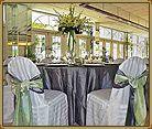 Tall White flower wedding centerpieces.  Grey and Lime green wedding.  Florida Beach Weddings | St. Pete Beach Weddings | Grand Plaza Beachfront Resort