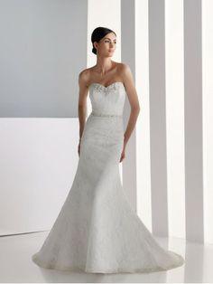 Satin Sweetheart A-line Wedding Dress