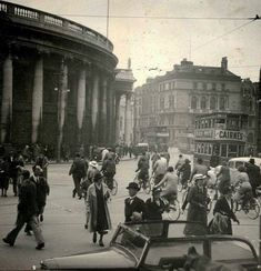 View from front of Trinity College looking towards Bank of Ireland and diwn towards Westmoreland Street, Dublin Dublin Street, Dublin City, Dublin Ireland, Ireland Travel, Old Pictures, Old Photos, Vintage Photos, Images Of Ireland, Ireland Homes