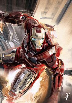 Iron Man Study by RobertoGomesArt.deviantart.com on @deviantART