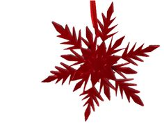 Red  Snowflake Christmas Decoration Frozen inspired - Acrylic