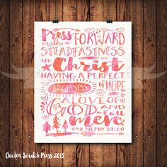 Press forward with a steadfastness in by ChickenScratchPress