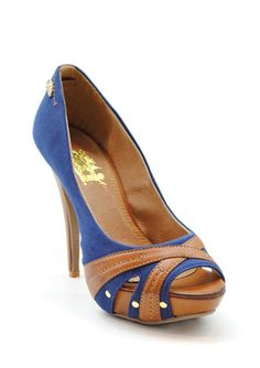 XTI Navy 25762 - crossover blue and camel pump