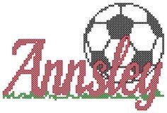 Soccer cross stitch personalized