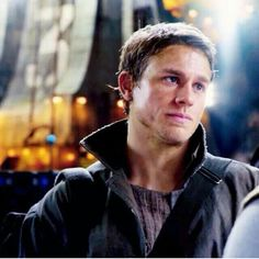 "Raleigh Becket, a fresh take of an action movie's male lead, ""Pacific Rim"", played by Charlie Hunnam"