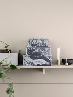 Keep you belongings in a stylish order with the Tin Boxes featuring a marble print by ferm LIVING. Furniture, Interior, Home Decor Decals, Ferm Living, Marble Box, Home Decor, Interior Design, Affordable Design, Nordic Interior Design