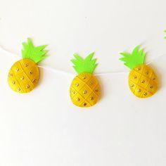 Pineapple Garland felt pineapple bunting cute tropical