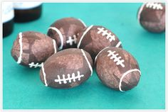 Eggs cleaned out and filled with confetti to celebrate! Birthday Decorations, Birthday Ideas, Football Crafts, Super Bowl Sunday, Backyard Playground, Egg Decorating, Football Season, Holiday Parties, Memorial Day