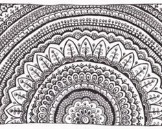 Pen and Ink Mandala Drawings