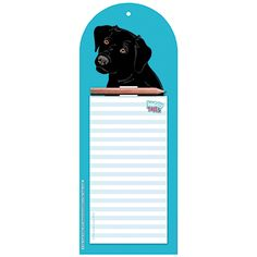 Black Labrador Memo Pad - Gift Idea Stick this Notepad on the fridge or any other magnetic surface to always have a handy place to write. Or hang it on a nail or hook using the pre-cut hole.Printed with a charming Black Labrador face the memo pad is the perfect choice for any dog lover. It�s great for writing down shopping lists things to do phone messages and other must-not-forget things.29 x 11cm. BUY this Gift Now for just GBP3.99