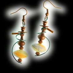 """Swirl Hookah Earrings Copper Finish Copper Tip by HookahDreams, $24.00  """"You may say I'm a dreamer, but I'm not the only one.""""  John Lennon"""