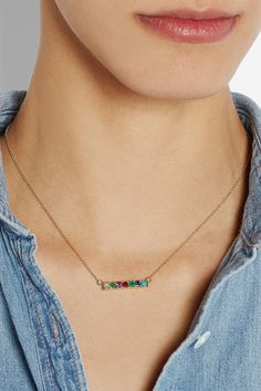 Lulu Frost CODECollier en or 18 carats et pierres multiples Dearest
