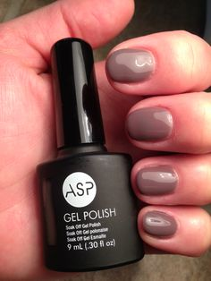 ASP Gel Polish Tame Me Taupe - need this one next! Asp Gel Polish, Gel Polish Colors, Nail Gel, Nail Manicure, Beauty Nails, Hair Beauty, How To Do Makeup, Soak Off Gel, Nail Inspo