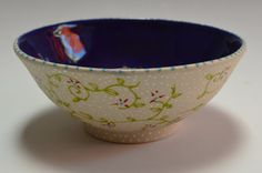 Botanical Bowl-Wheel thrown pottery bowl. by OneBlueMarble on Etsy