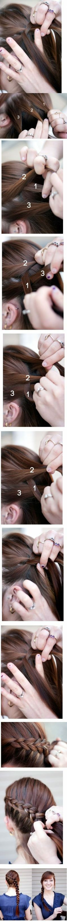 French side plait tutorial
