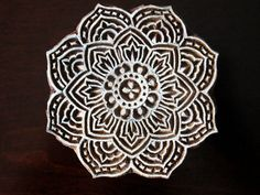 Indian Wood Block Stamp Tjaps Hand Carved stamp by charancreations
