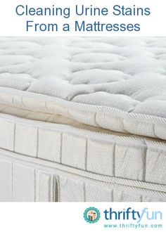 This is a guide about cleaning urine stains from a mattress. Mattresses are expensive so replacement isn't always an option when they get soiled. It can be tough to remove urine stains on your mattress though.